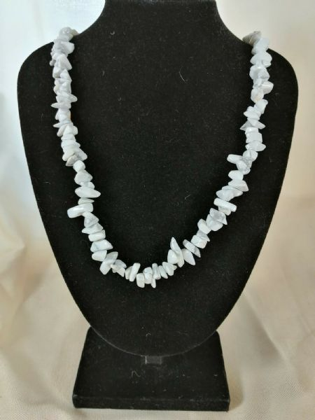 "Howlite Chip Necklace 16"" to 34"", Long Necklace, Short Necklace"